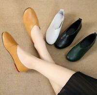 Womens Flat Casual Glove Shoes Slip On Round Toe Loafers Ballet Soft Shoes Solid