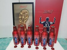 China 2020 Budweiser Beer Lionel messi Footprint model Empty Aluminum bottle box