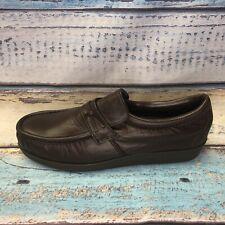 Men's Safety Steel Toe Shoes 10 D USA ANSI Brown Apron Toe Slip On Loafer Rare