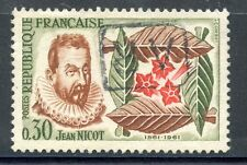 STAMP / TIMBRE FRANCE OBLITERE N° 1286 L'INTRODUCTION DU TABAC / JACQUES NICOT