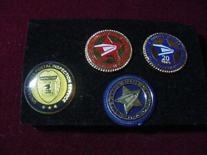 Vintage lot 4 united states postal inspection services, 20 & 25 years lapel pin