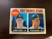 2017 Topps Heritage Aaron Judge, Tyler Austin RC #214, NY Yankees Star Rookie!