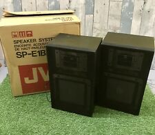Vintage JVC SP-E1 Stereo Separate Main Speaker System 80 Watt Speakers SP-E1BK