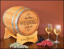 Personalized Classic Oak Wedding Barrel Card Holder Wedding, Party, Anniversary
