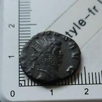 H04201 pièce de monnaie romaine antoninien de gallien pax la paix 263 T ric 256