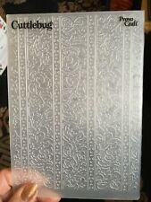 Cuttlebug Embossing Folder - Stripy pattern VGC crafts, cards, kids crafts