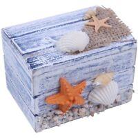 Mini Sea Wooden Pirate Treasure Jewellery Storage Chest Craft Box Case Organi ZC