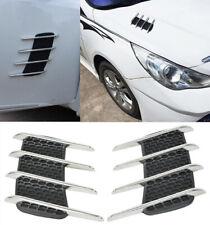 2x Fake Vents Flow Fender Intake Shark Grille Air Net Door Hood Side JDM AH