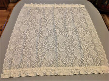 Beautiful Vtg Sheers/Curtains Door-Lights/Window-Floral Appenzil- Bobbin Lace