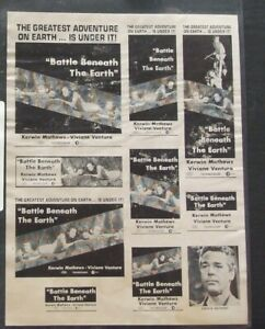 BATTLE BENEATH THE EARTH ad slicks full sheet - Kerwin Mathews & Viviane Ventura