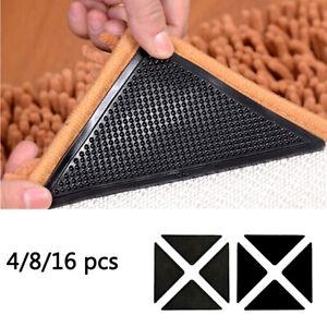 4/8/16pc Anti Slip Soft Mat Rug Carpet Anti Curling Rug Grippers Tape Floor Home