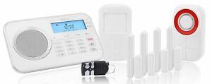 OLYMPIA Haus Alarmanlage Protect 9878 GSM Funk Alarmsystem & Außensierene & App