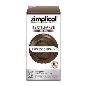 Simplicol Textile Intensive All IN 1 Espresso Braun Colour Incl. Fixierpulver