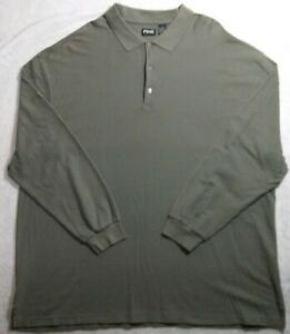 Ping Collection Golf Olive Green Long Sleeve Polo Shirt Men's 3XL NWOT.