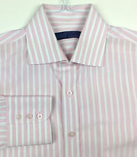 LORD WILLY'S Men's Button Front Casual Shirt Size M Medium Pink White