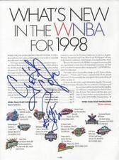 Cynthia Cooper / Rebecca Lobo Signed 1998 Magazine Page JSA WNBA