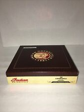 New listing Indian Motorcycle Churchill Maduro Empty Wooden Cigar Box Humidor By Debonaire