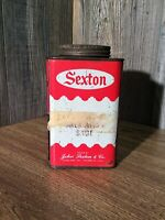 Vintage Sexton Sage Tin Kitchen Decor Chef A8