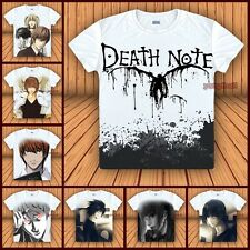 "Anime Death Note Yagami Light/""L""/Ryuuku T-shirt Cosplay Unisex Tee Tops#M-X07"