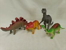 Imperial Toys Dinosaurs Vintage 1985 Lot of 4 Stegosaurus Triceratops 12 Inch