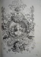 Jules ARNOUT (1814-1868) BELLE LITHO ALLÉGORIE ART ARTISTE DECORATION ANGE 1840