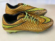 Nike Hypervenom Phantom Premium FG Soccer Cleat Metallic Gold Coin Volt Size 7