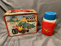Vintage 1973 Speed Buggy Metal Lunchbox w/ Thermos Rusted / Worn Hanna Barbera