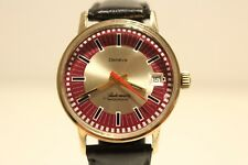 """VINTAGE RARE SWISS GOLD PLATED MEN'S AUTOMATIC WATCH """"GENEVE"""" 17J/BEAUTIFUL DIAL"""