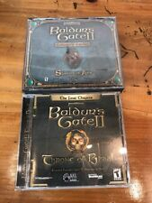 Baldur's Gate 2 : Shadows of Amn PC game (4 discs) & Throne Of Bhaal (1 Disc)
