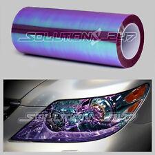 PURPLE Chameleon Neo Chrome Headlight Taillight Fog Light Gloss Vinyl Tint Film