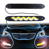 2Pcs Impermeabile 12V LED Cob Auto DRL Cob Striscia Diurne Lampada Fendinebbia
