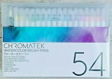 30 Watercolor Brush Pens, 15 Page Tutorial Pad and Online Video Series
