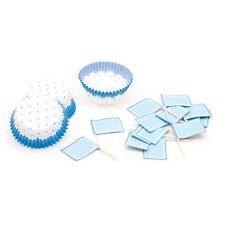 Muffin-Back-Set,hellblau gepunktet, für Babyshower, Babyparty, Jungen-Geburtstag