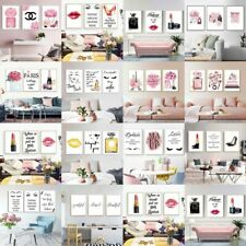 Fashion P erfum Poster Girls Room Art Print Makeup Dress Up Canvas Wall Painting