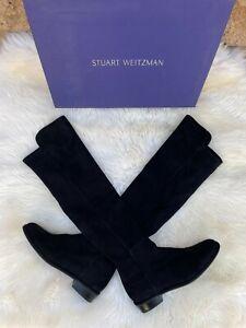 Stuart Weitzman Women's All Good Black Suede Knee-High Boots A411658 US SIZE 7.5