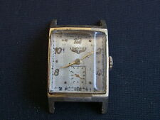 LONGINES VNTAGE RECTANGLE GOLD FILLED MANS WRISTWATCH.