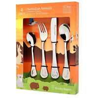100% Genuine! STANLEY ROGERS 4 Piece Children's Cutlery Set Australian Animals!