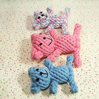 Hunde Welpen Kauen Teddy Bär Knoten Buntes Baumwolle Hundespielzeug