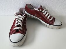 Converse All Star Chucks Sneaker Turnschuhe Slim Low Stoff Rot Gr. 5 / 38