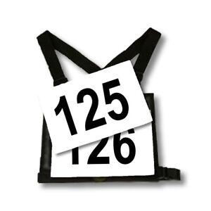 Bib Numbers for Eventing Bib Holders