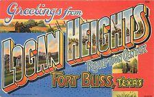 Gruss aus Logan Höhen Fort Bliss Texas Großbrief Postkarte Ansicht