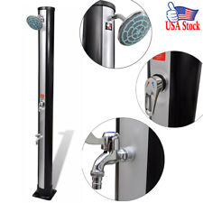 9.25 Gallon Outdoor Solar Shower with Shower Head and Faucet Water Heater Camp