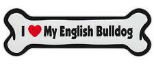 Dog Bone Shaped Car Magnets: I LOVE MY ENGLISH BULLDOG