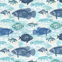 Robert Kaufman Ocean Life Fish AQI7371759 Nicola MacArthur fabric bty