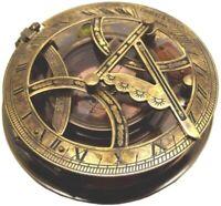 "Vintage 5"" GILBERT & SON Lond  ANTIQUATED BRASS Nautical Sundial Compass SC 02"