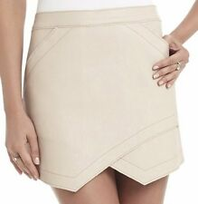 "BCBG NWT ""Owen"" Faux Leather Bare Pink Party Skirt New M $198 CLP3E877"
