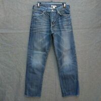 H&M Original Fit Men's Jeans Size 32 X 31 Distressed Wash Button Fly