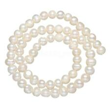 100% Natural Freshwater Pearl Loose Beads Lots Wholesales Potato White 5-6mm 14""