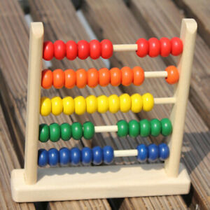 Mini Wooden Abacus Math Learning Toy Numbers Counting Teaching Math Abacus SG