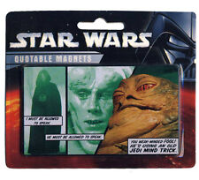 """STAR WARS - QUOTABLE MAGNETS - """"HE'S USING AN OLD JEDI MIND TRICK"""" - NEUF NEW"""